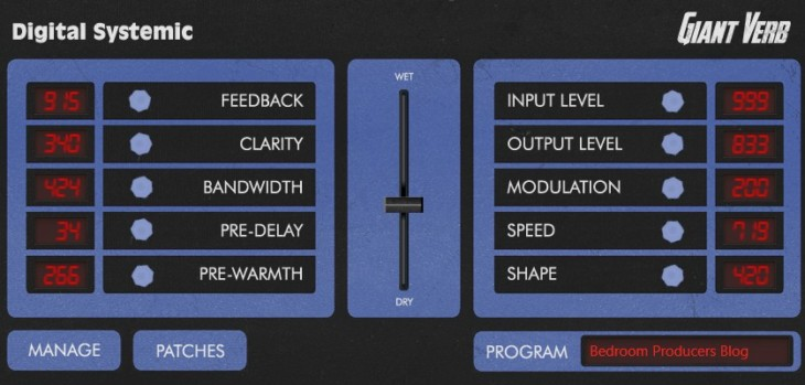 Giant Verb by Digital Systemic Emulations