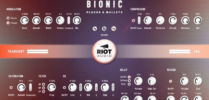 Riot Audio Bionic Plucks & Mallets Intro Sale + FREE Lite Edition