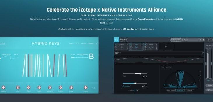 Get NI Hybrid Keys & iZotope Ozone Elements For FREE!
