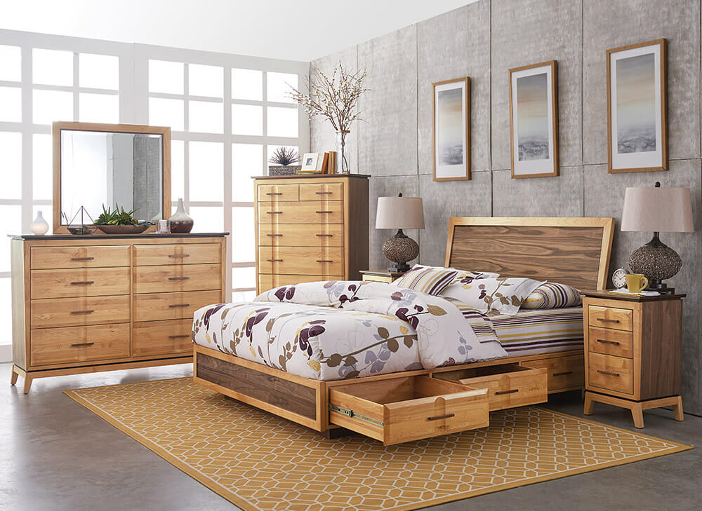 Addison Adjustable Headboard Storage Bed Bedrooms Amp More