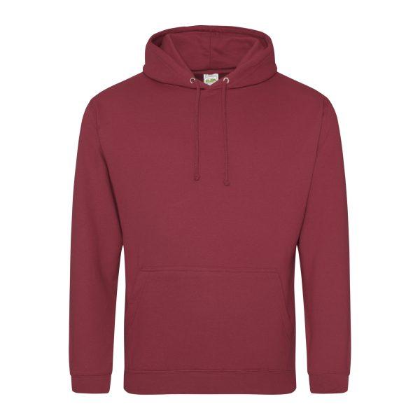 baksteen rood kleur hoodie - bedruk mijn hoody