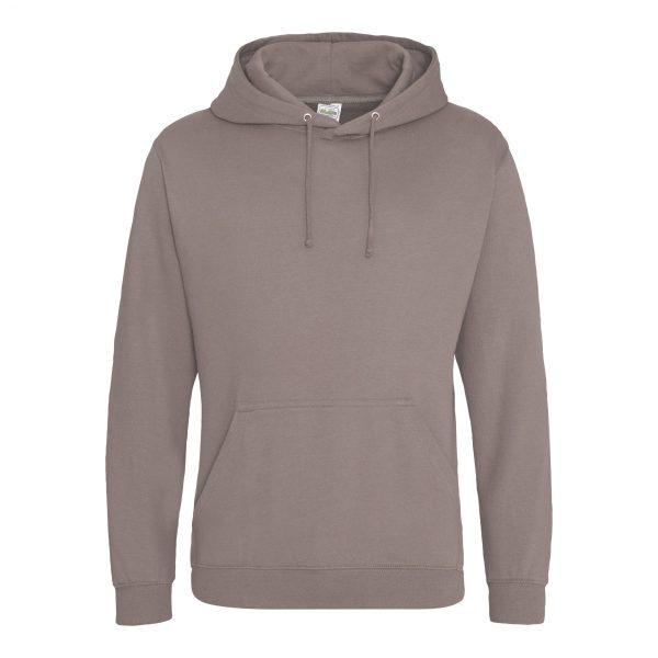 Mokka bruin kleur hoodie - bedruk mijn hoody