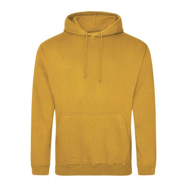 Mosterd kleur hoodie - bedruk mijn hoody