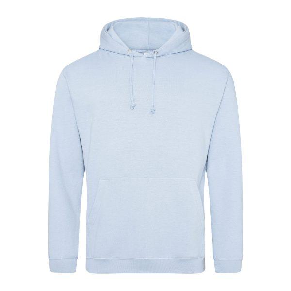 helder hemel blauw kleur hoodie - bedruk mijn hoody