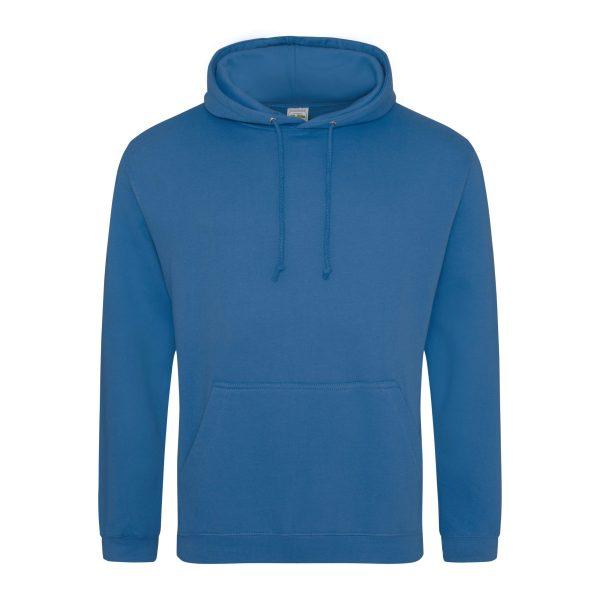 tropical blue kleur hoodie - bedruk mijn hoodie
