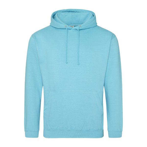 Turqoise surf kleur hoodie - bedruk mijn hoodie