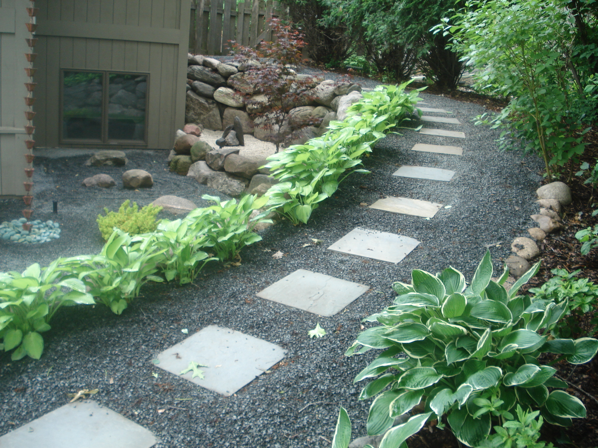 Photo tutorials beds and borders landscape design for Different color rocks for landscaping