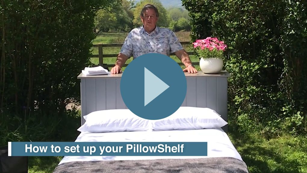 Watch our video on YouTube on how to set up the PillowShelf