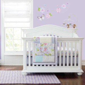 Bella 6 Piece Baby Crib Bedding Set by Just Born - Girl Crib Bedding Under $75