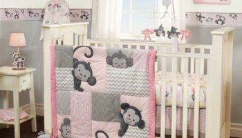 girls monkey crib bedding - Baby Bedding For Girls