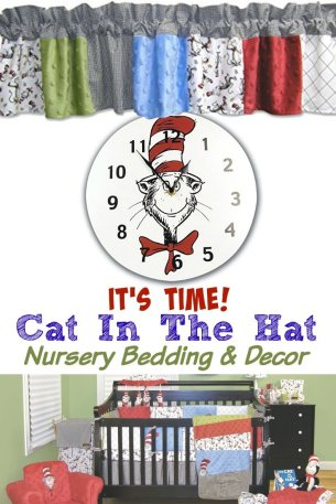 Dr. Seuss The Cat in The Hat Nursery Bedding Decor