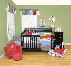 Dr Seuss The Cat In The Hat Crib Bedding
