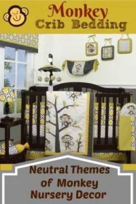Monkey Crib Bedding and Decor