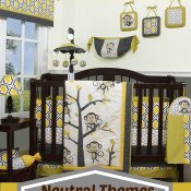 Monkey Crib Bedding and Decor