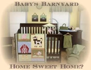 Farm Animal Nursery Decor Barnyard Baby Bedding
