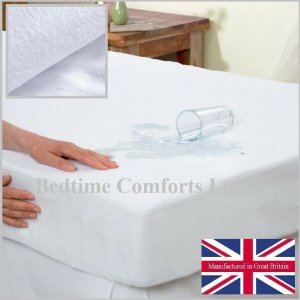 Waterproof Mattress Protector (with boxed skirt) Various Size's