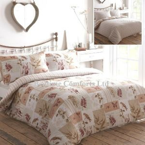 Beige Butterfly, Fern Kestral Duvet Cover + Pillow Case COTTAGE