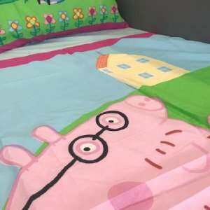 Blue Peppa Pig Duvet Cover & 1 Pillowcase (available with duvet)
