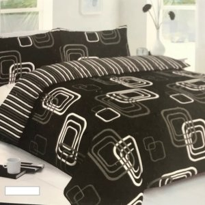 3' Single 5 Pce Black Bed In A Bag (duvet, pillow, duvet cover, pillowcase & fitted Sheet)