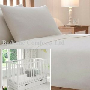 "Cot Bed / Travel Cot Luxury Soft Flannelette Flat Sheet 55"" X 71"" CREAM"