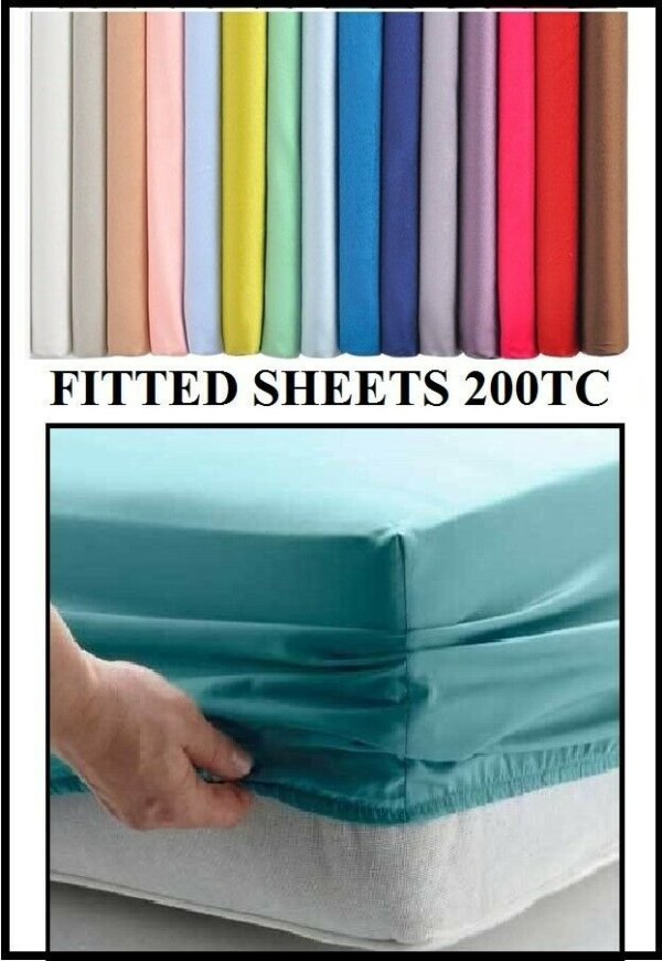 "2'6 X 6'3 Bunk Bed Fitted Sheet Various Colours (30"" x 75"")"