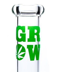 "Grow DailyDriver 12"" Glass Water Pipe Mouthpiece"