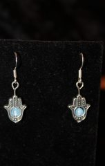 aquamarine hamsa sterling silver earrings handmade by beejewelled (5)