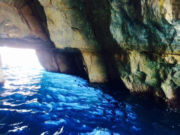 Just look at the blue water! Blue Grotto is a must during your 5 days in Malta