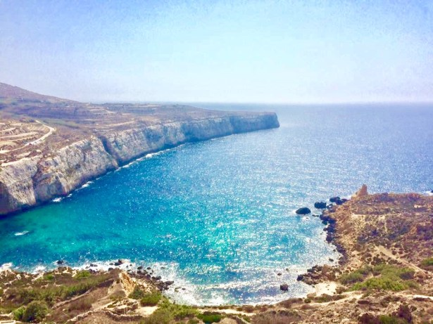 This view of the Med sea from our quad bike excursion during our 5 days in Malta
