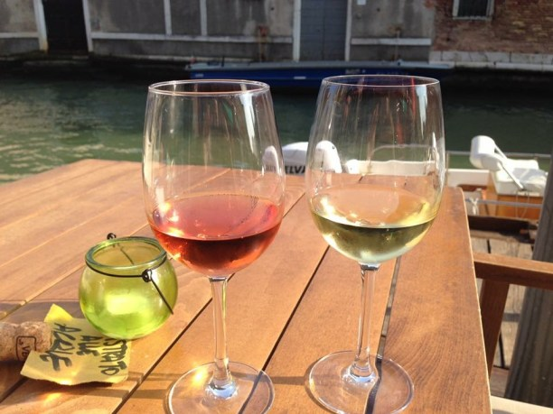 When you get lost in Venice be sure to take a wine break!