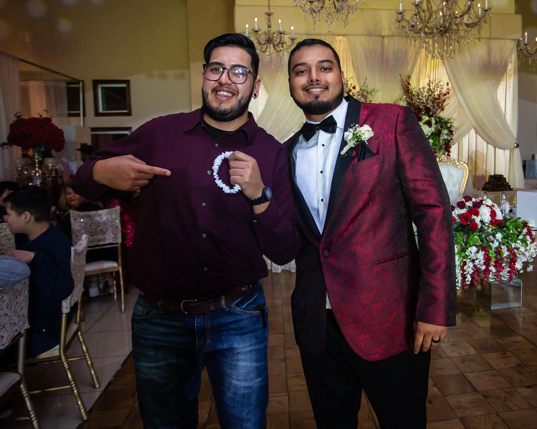 Real del Valle Event Center garter toss wedding