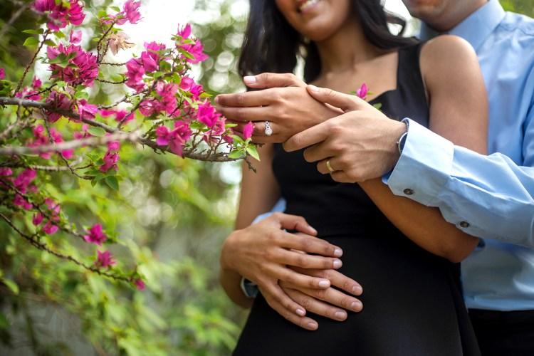 memory lane photo spot engagement indian couple
