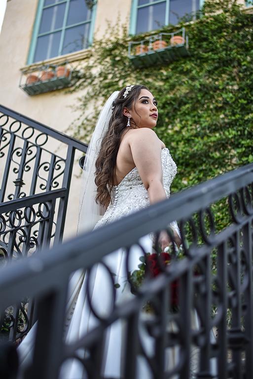 bride on stairs casa polonia