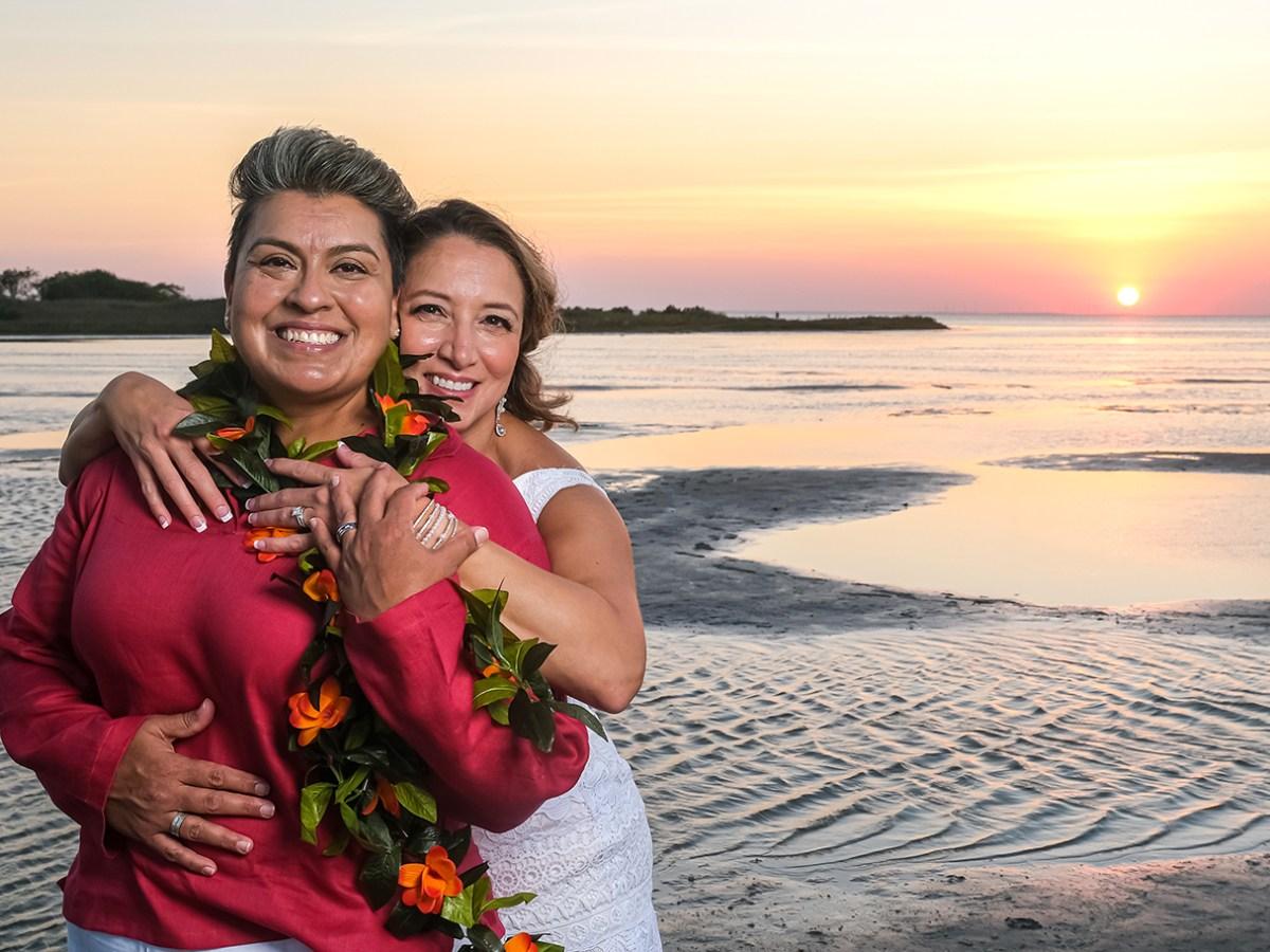 same sex wedding south padre island texas