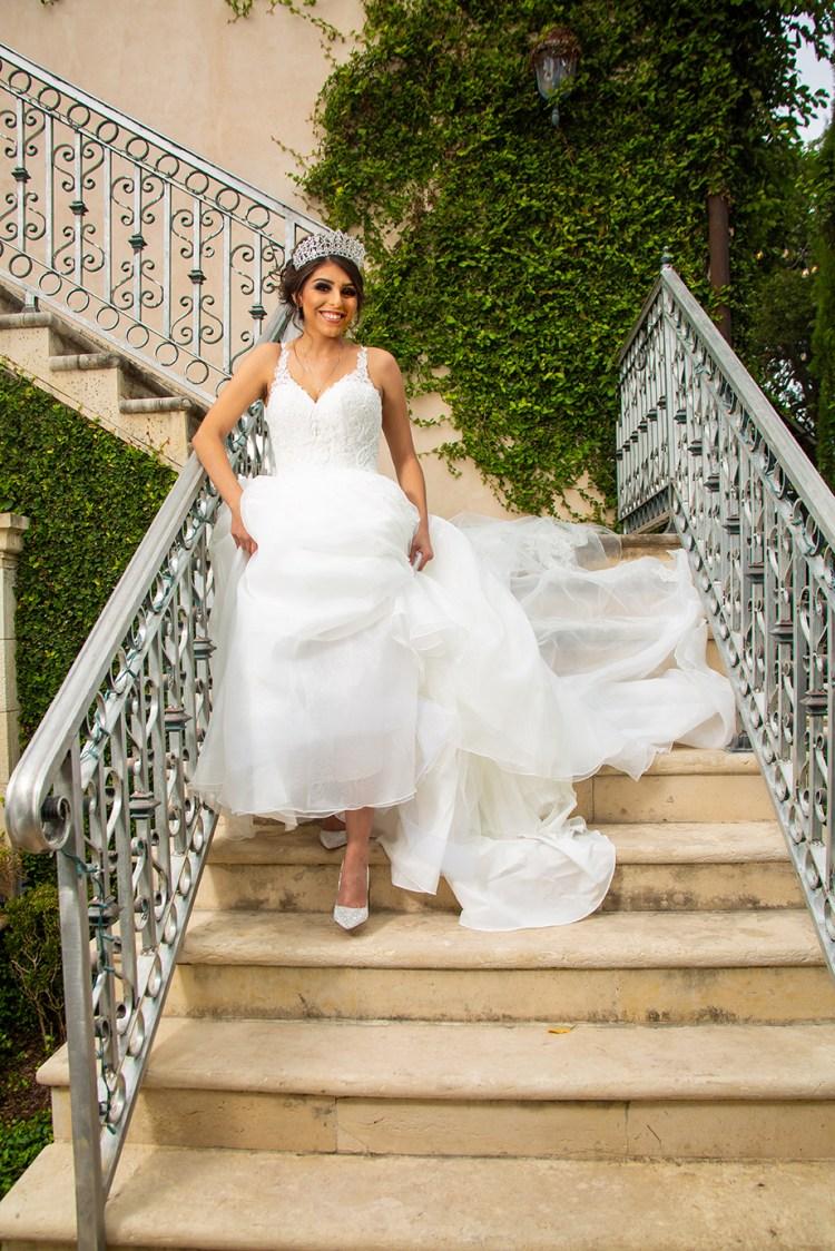 bride on staircase casa polonia