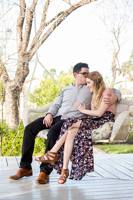 forehead kiss engagement couple rgv