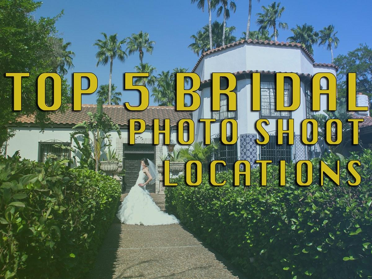 Top 5 Bridal Shoot Locations