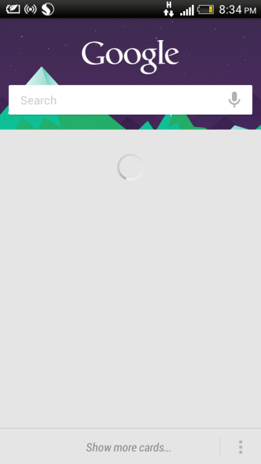 Access Google Now quickly