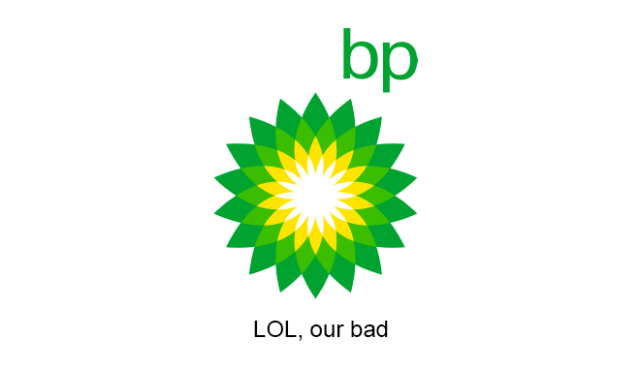 bp realistic tagline
