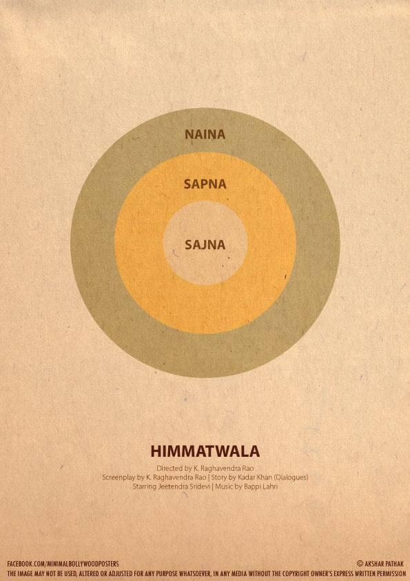 10 Amazing Minimalist Bollywood Movie Posters:Akshar Pathak