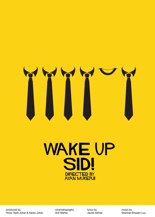 Wake Up Sid movie's Minimalistic poster Akshar Pathak