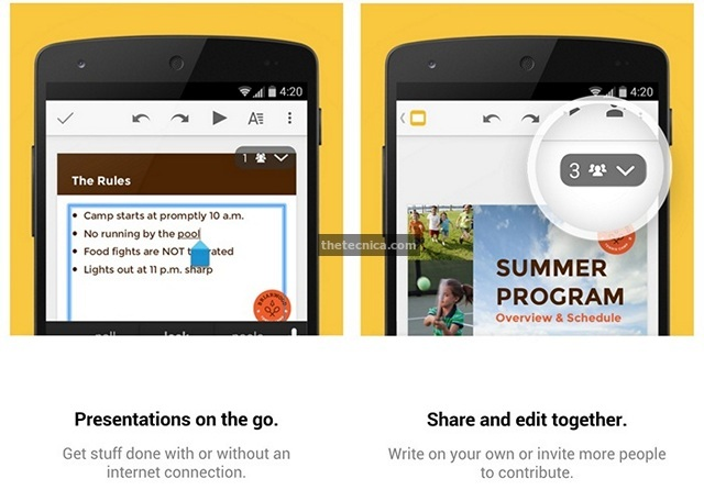 Google Slides Android App Review 2