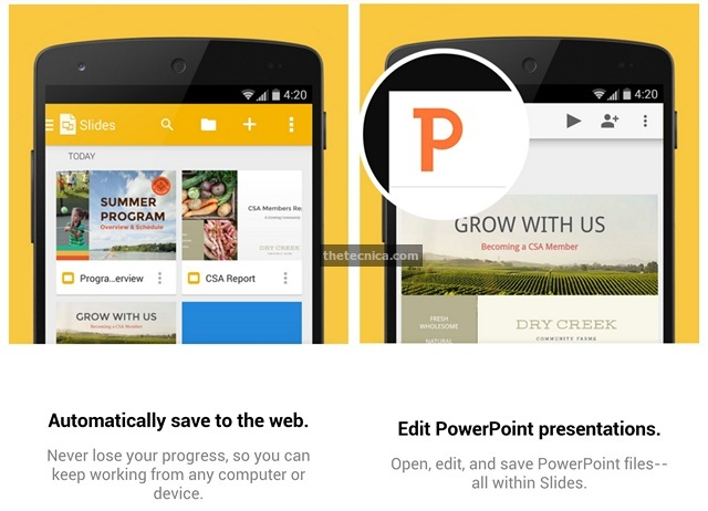 Google Slides Android App Review 3