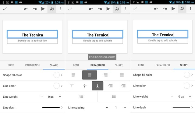 Google Slides Android App Review 9