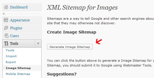 Google XML Image sitemap