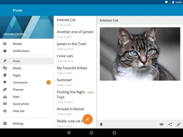 Wordpress material design app