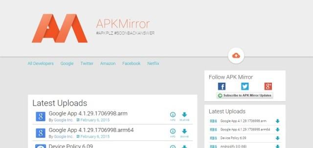 apkmirror material design website