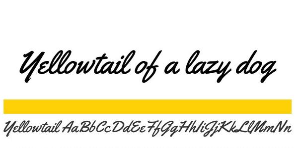 """handwriting-fonts-yellowtail """"width ="""" 600 """"height ="""" 299 """"srcset ="""" https://i2.wp.com/beebom.com/wp-content/uploads/2015/02/handwriting-fonts-yellowtail.jpg?w=1160&ssl=1 600w, https: // beebom.com/wp-content/uploads/2015/02/handwriting-fonts-yellowtail-300x149.jpg 300w """"sizes ="""" (max-width: 600px) 100vw, 600px """"/> Yellowtail - это явно наклонный сценарий рукописного ввода с фантастический поток. Веб-дизайнеры оценят тот факт, что лицензия Yellowtail допускает встраивание @ font-face. Вы можете выбрать подмножества и форматы шрифтов на странице загрузки.</p data-recalc-dims="""