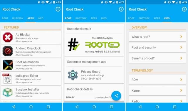 root check material design app 1
