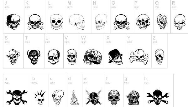 tattoo-fonts-skullx